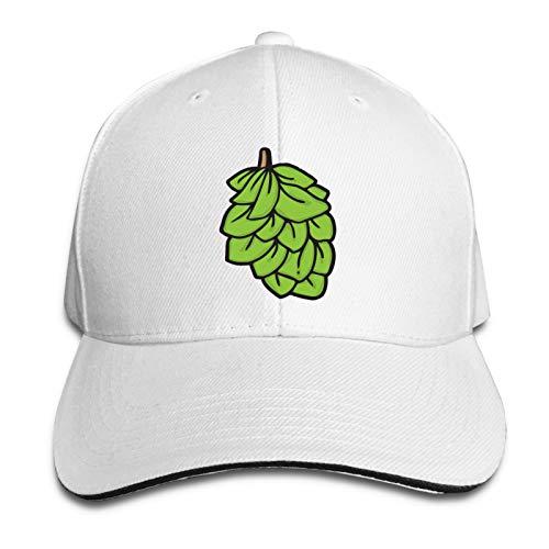 Jigsaw Beer Hops Casquette Classic Baseball Cap Adults Unisex Original Custom Hat Cotton White One Size