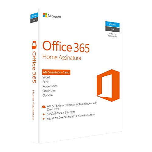 Office 365 - Home 12 Meses de Assinatura - PC