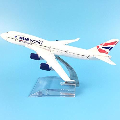 FJCY 16 cm British One World Airways Boeing 747 Flugzeugmodell Flugzeugmodell Flugzeugmodell Modell 1: 400 Metalldruckgussflugzeuge