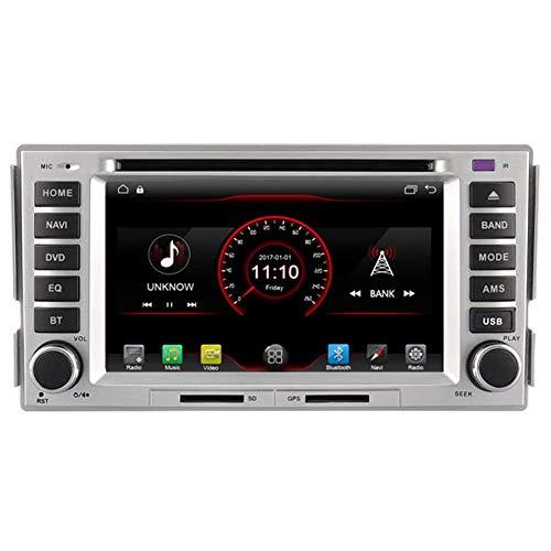 KLL Android 10 Car DVD Player GPS Stereo Head Unit Navi Radio Multimedia WiFi para Hyundai Santa Fe 2006 2007 2008 2009 2010 2011 2012 Soporte Control del Volante