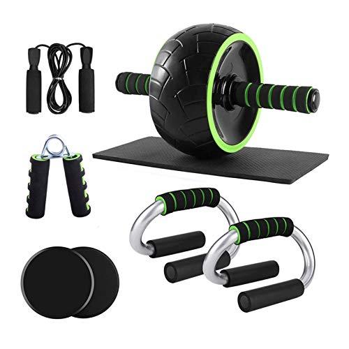 CAPCRD Conjunto de Rodillos de Rueda con Barras de Empuje Discos de Deslizamiento de la Cuerda de Salto Ejercitor de Mano Pad Home Gym Gym Equipo de Entrenamiento para el Entrenamiento Corporal