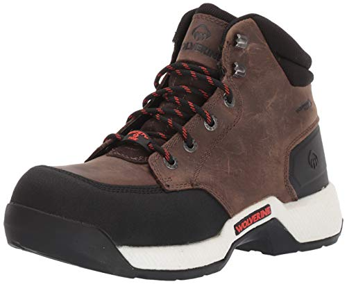 """Wolverine Men's Carom CarbonMax 6"""" Work Boot Hiking, Fossil, 10 X-Wide"""