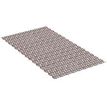 Tatay Alfombra de Bañera Antideslizante de PVC con Ventosas, Resistentes a Moho y Microbios, Anti-Bacteriano, Diseño Piscis, Visón. Medidas 70 x 36 cm
