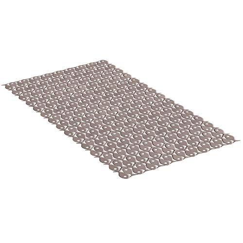 TATAY 5511402 - Alfombra antideslizante para ducha o bañera con diseño de peces, 70 x 36, visón opaco
