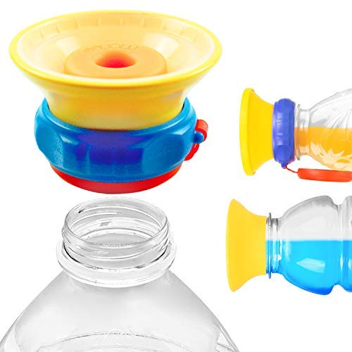 MONEE Sippy Cup Cap - Turn Store Bottles into Spill Proof Sippy Cups - For Babies, Toddlers, Kids