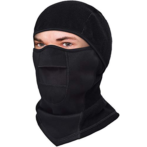 Black Balaclave Face Mask for Cold Weather, Winter Ski Maskfor Man and Women