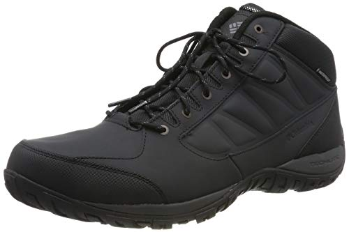 COLUMBIA Herren Wanderschuhe, Wasserdicht, RUCKEL RIDGE CHUKKA WP OMNI-HEAT, Schwarz (Black, Dark Grey), 44