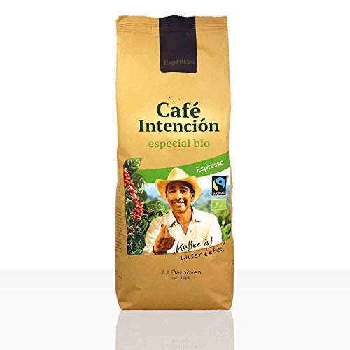 Darboven Espresso Cafe Intencion especial Fairtrade - 12 x 500g ganze Kaffee-Bohne