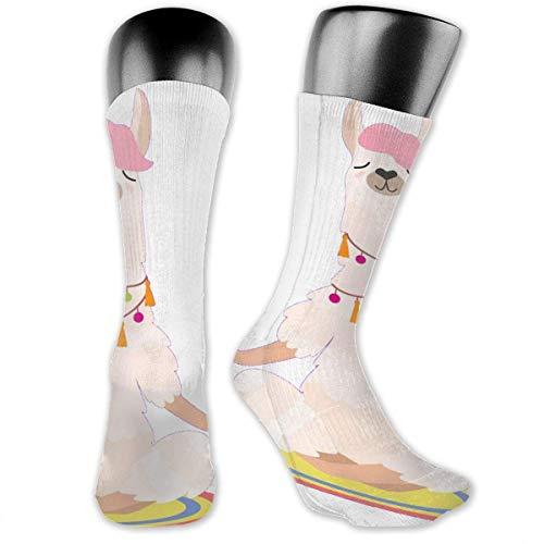 Nice-Guy Yoga Alpaka Bedruckte Crew Socken Bunte Unisex-Adult Socken