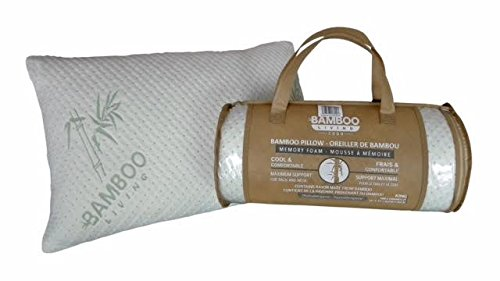 Bamboo Living Rayon from Bamboo Breathable Sleeping Hard Pillow with Removable Zipper Washable Cover, 1 Piece King Size