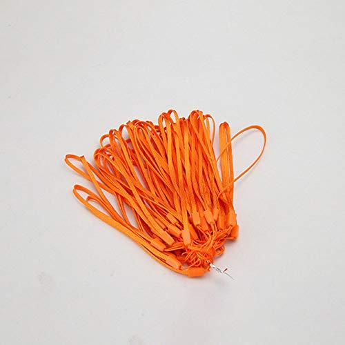 10 unids / lote Correa para teléfono móvil para iPhone Cordón para teléfonos Llaves Cordón Correa de muñeca Cuerda de pino Selfie Stick Cordón Linterna, 10 piezas naranja