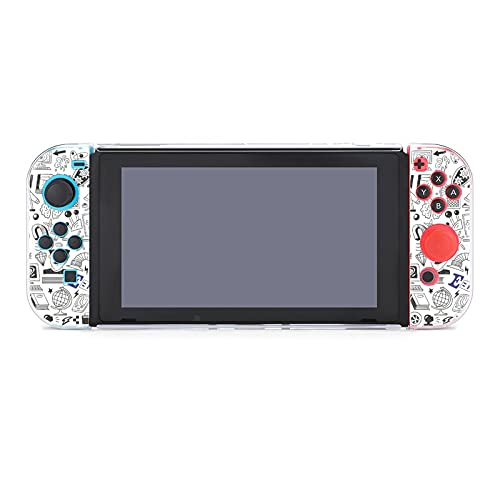 Case for Nintendo Switch,Science Doodles Protective Cover Case Compatible with Switch and Joy Con Controllers