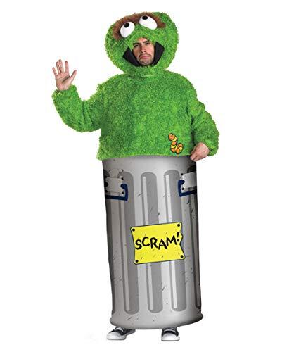 Horror-Shop Sesamstrasse Oscar Kostüm XL