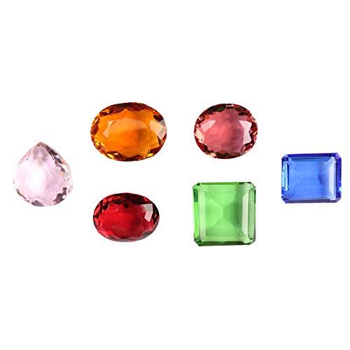 GEMHUB Lote de 6 piezas de piedras preciosas sueltas brasileñas de 500 quilates para fabricación de joyas ASP-029