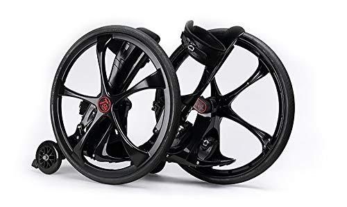 L.HPT Off-Road Roller Skate, Scooter für Erwachsene und Jugendliche 2 Rad-T-Bar-Adjustable Kick-Scooter, Rad-Durchmesser 19.3 inch/49CM