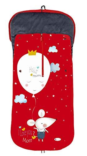 Saco POLAR de Invierno de Silla de Paseo - (Universal-Bugaboo-Mclaren) - Color: Rojo Ratita - OFERTA Black Friday