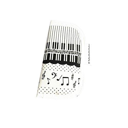 El Werkstatt de Mis Nubes Music brillenetui, wit/zwart, 16 uniseks