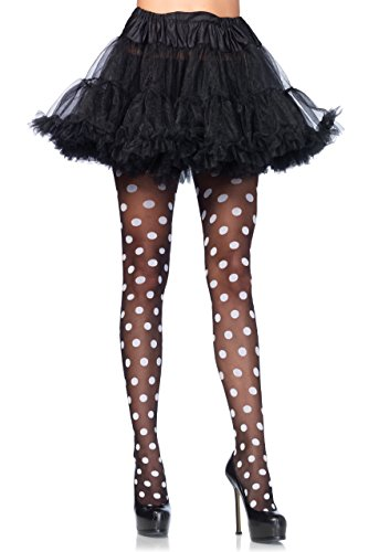 Leg Avenue Damen Sheer Polka dot Strumpfhose, schwarz, One Size