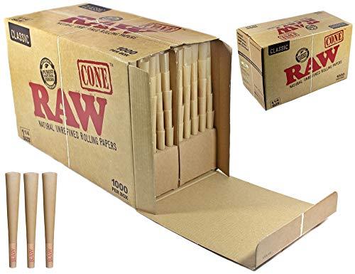 RAW Classic Bulk 1 1/4 Pre-Rolls Cones 1000PCS 84mm 24mm