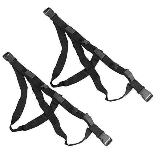 BESPORTBLE 2 Piezas Bastidores de Caña de Pescar para Coche Soporte de Caña de Pescar Ajustable Correas de Cinturón Soporte de Caña de Pescar para Asiento Trasero de Coche (Negro)