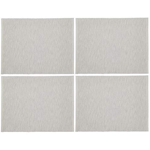 IKEA Tischsets Marit grau beige Stoff 35 x 45 cm – 4 Stück