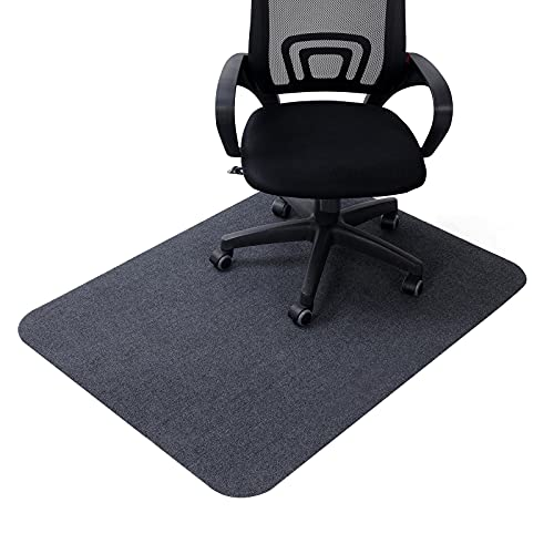 """non rolling office chairs Office Chair Mat for Hardwood Floors 35 x 47 inch, """"Vacuum TECH"""" - Non Slip Computer Desk Mat for Rolling Chairs, Gaming Chairs (Dark Gray)"""