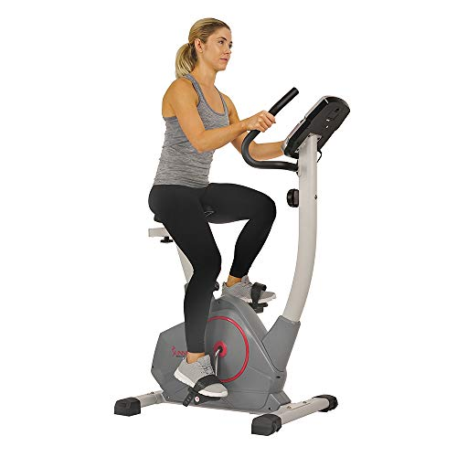 Sunny Health & Fitness Stationary Upright Exercise Bike with Performance Monitor, Tablet/iPad Device Holder, 275 LB Max User Weight with Body Fat and BMI Calculator - SF-B2952 belt Bikes Exercise magnetic Sunny Health & Fitness upright