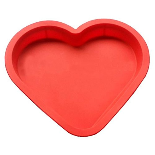 JUNGEN Moule Silicone en Forme Coeur pour Gateau Chocolat Patisserie Couleur Aléatoire 1pcs