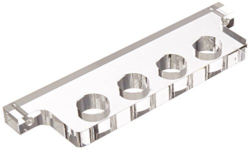 Abbott Collection 4 Hole Wall Bottle Rack, Clear
