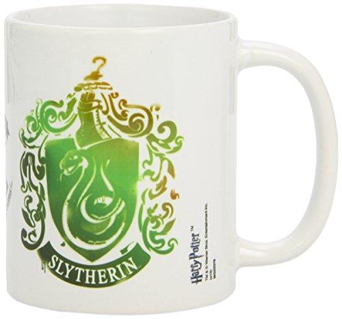 Harry Potter - Taza Slytherin Stencil Crest, 320ml