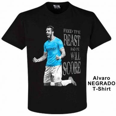 T-shirt Manchester City Alvaro Negredo - L - 112-122cm