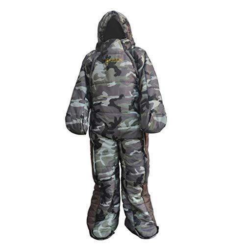 SM SunniMix Erwachsene Schlafsack mit Ärmeln Beinen Outdoor Camping Sleeping Bag für Herren Damen - XL