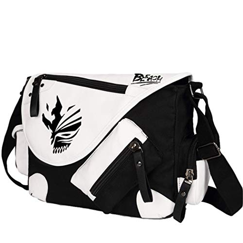 YOYOSHome Anime Bleach Cosplay Backpack Messenger Bag Shoulder Bag (Black)