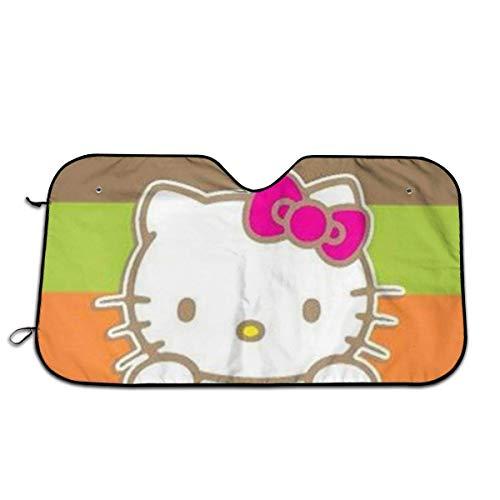 Parasol para parabrisas de coche, color Hello Kitty, protector de protección contra rayos UV, mantiene el vehículo fresco