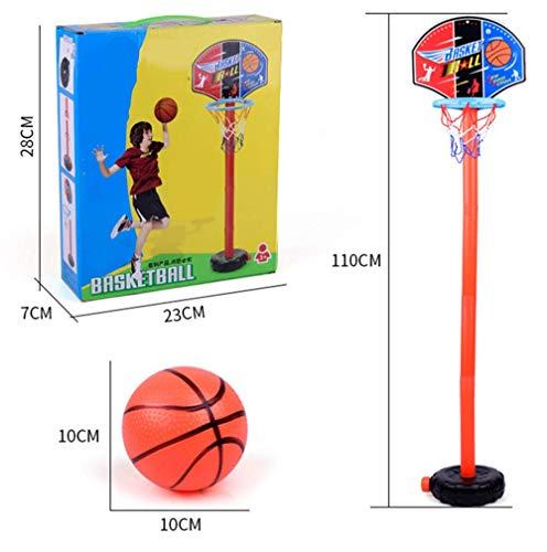 Portable Kantelbare Basketball Stand, in hoogte verstelbare Basketbalbasket met bal en luchtpomp, geschikt for binnen en buiten sport spelletjes for kinderen, duurzaam en veilig li