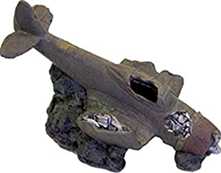 Blue Ribbon PET Products 030157015848 Exotic Environments Sunken WWII Plane with Cave Brown