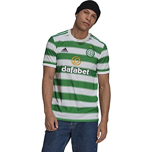 adidas Men's Soccer Celtic 21/22 Home Jersey (Large) White/Green
