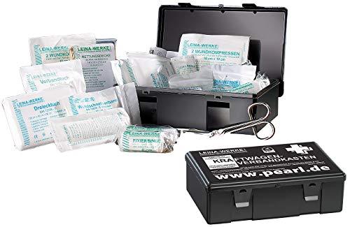 PEARL Autoverbandskasten: 2er-Set Marken-KFZ-Verbandkasten Plus, geprüft nach DIN 13164 (Kfz Erste Hilfe)