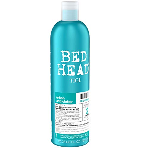 Bed Head by Tigi Urban Antidotes Recovery, Shampooing hydratant pour cheveux secs, 750 ml