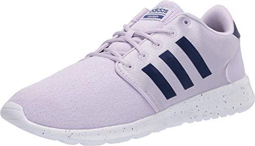 adidas Women's Cloudfoam Qt Racer Running Shoe, Purple Tint/Blue met./FTWR White, 7 M US