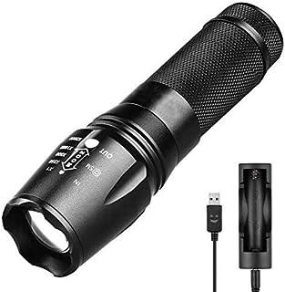 comprar comparacion Linterna LED,Recargable USB Alta Potencia 2000 LM Super Brillante Antorcha Táctica Militar Pequeña portátil Linterna de Ma...