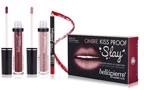 bellapierre Cosmetics Kiss Proof Slay Lip Kit 40 's Red Matte Finish
