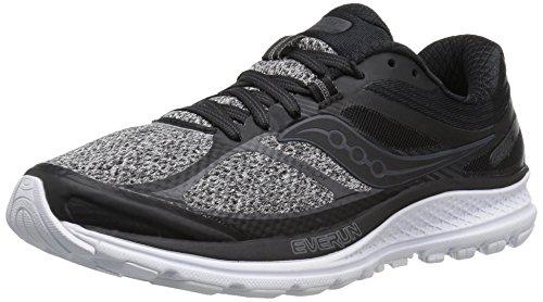 Saucony Women's Guide 10 LR Running Shoe, Marl | Black, 5 UK