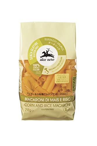 ALCE NERO(アルチェネロ) 有機 グルテンフリー マカロニ 250g (オーガニック イタリア産 小麦不使用)