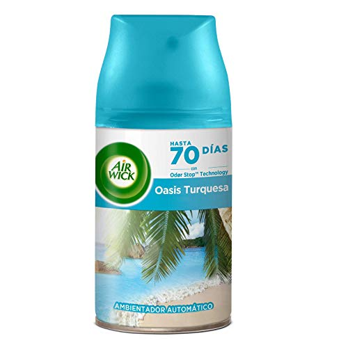 Air Wick Freshmatic - Recambio de Ambientador Spray Automático, Esencia para Casa con Aroma a Oasis Turquesa, 1 unidad