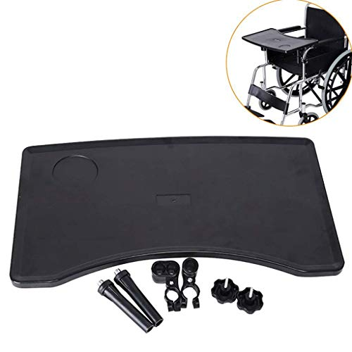AILSAYA rolstoel tafel verwijderbare rolstoel lade tafel, met Cup houder draagbare kinderstoel lade bureaulade accessoire, voor het eten, lezen bijlagen aan standaard en bureau wielstoel armen