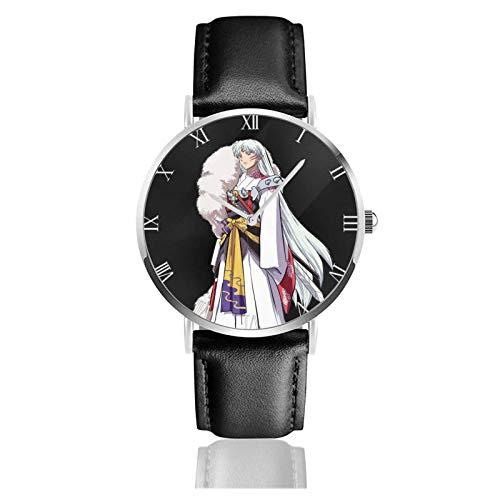 Relojes Anolog Negocio Cuarzo Cuero de PU Amable Relojes de Pulsera Wrist Watches Inuyasha y Kagome Sesshoumaru