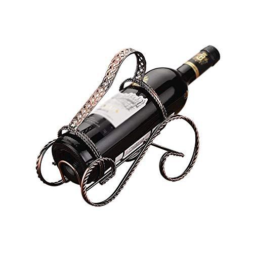 NXYJD Vino Bastidores Inicio Barra de Cocina Accesorios de Vino Práctica Botellas de Vino Titular de la decoración Estante de exhibición y Bastidores