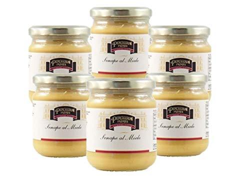 Senape francese al miele 200g - 6 pezzi - Delicatezza prodotta in Francia - Scadenza prodotto 24.08.2021
