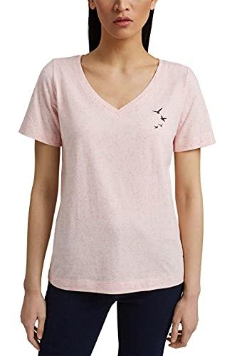 ESPRIT T-Shirt mit Noppen-Struktur, Organic Cotton